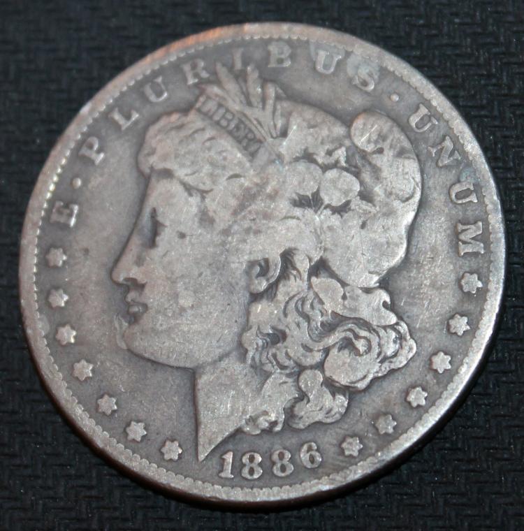 1886-O Morgan Silver Dollar Coin VF-20