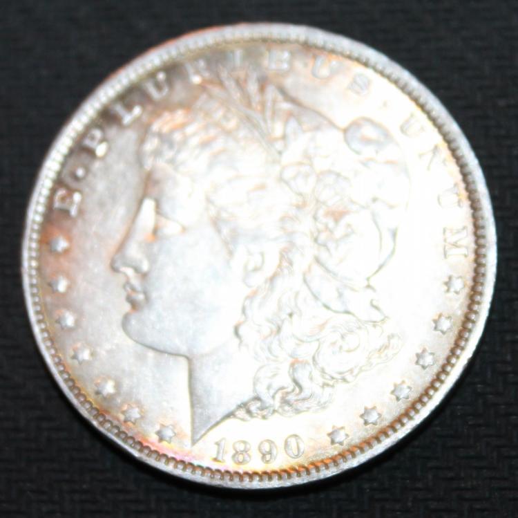 1890-O Morgan Silver Dollar Coin EF-40 Or Better