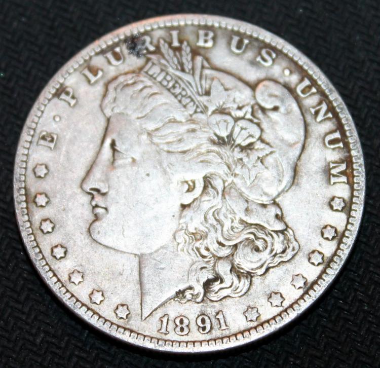 1891-O Morgan Silver Dollar Coin VF-20