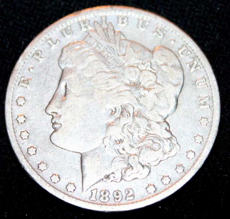 1892-O Morgan Silver Dollar Coin EF-40 Or Better