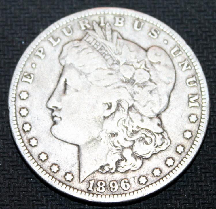 1896-O Morgan Silver Dollar Coin VF-20