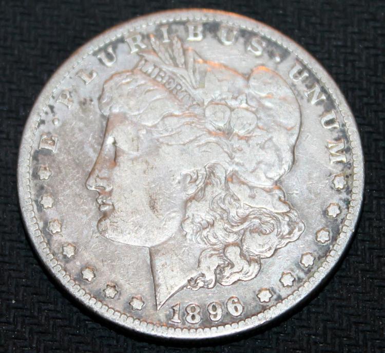 1896-S Morgan Silver Dollar Coin VF-20 Or Better