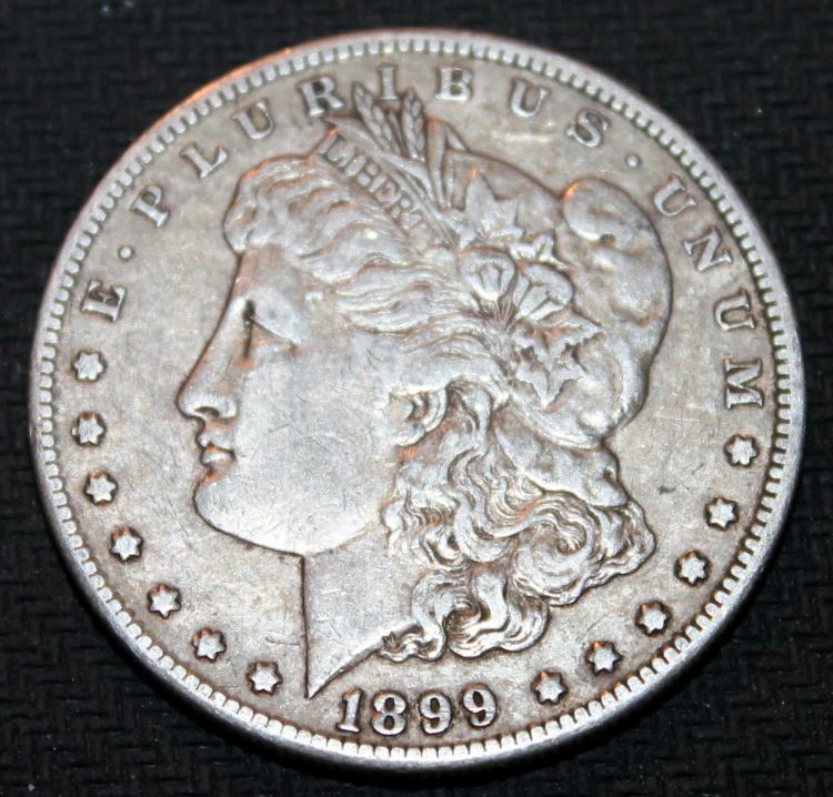 1899-O Morgan Silver Dollar Coin VF-20 Or Better