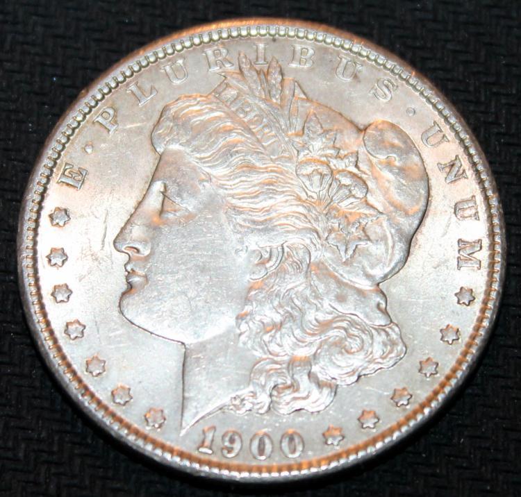 1900 Morgan Silver Dollar Coin EF-40 Or Better