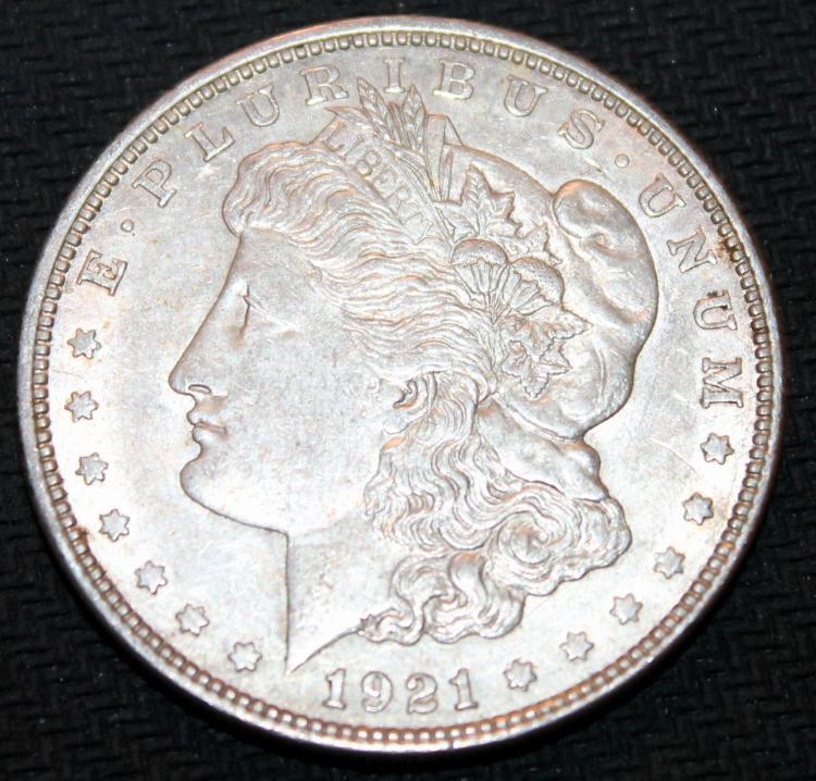 1921-D Morgan Silver Dollar Coin EF-40 Or Better