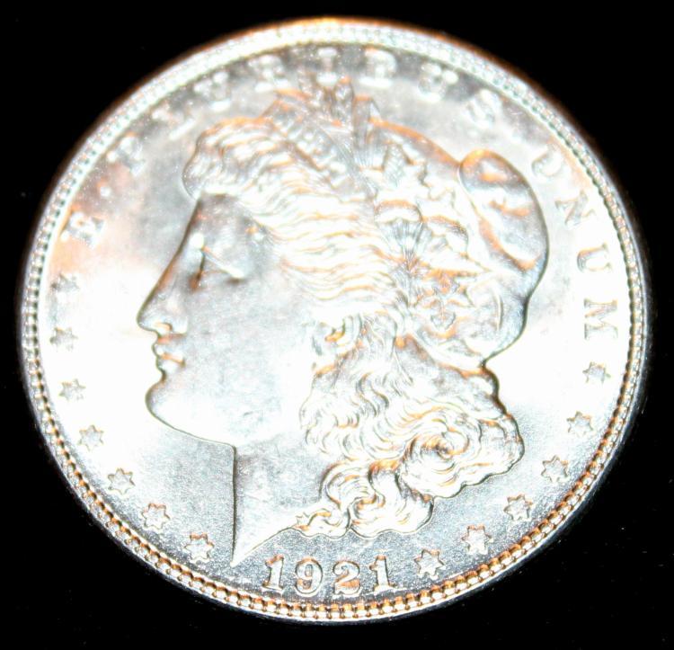 1921-S Morgan Silver Dollar Coin EF-40 Or Better