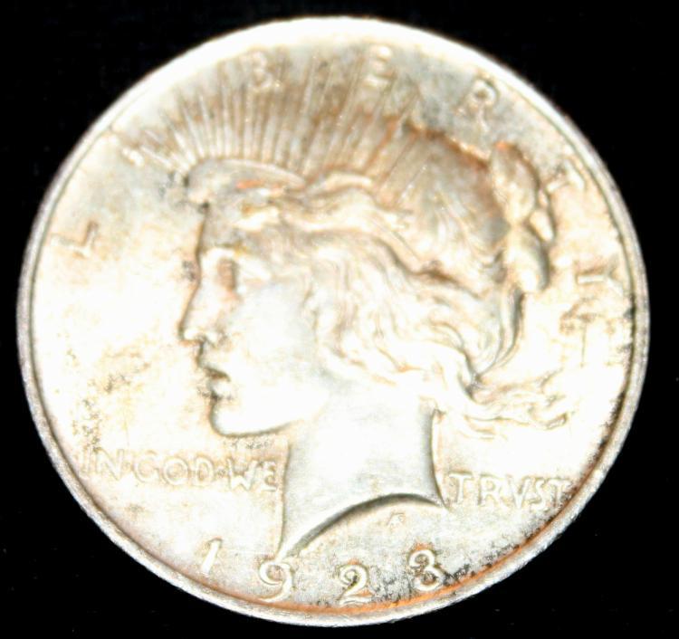 1923 Peace Silver Dollar Coin VF-20