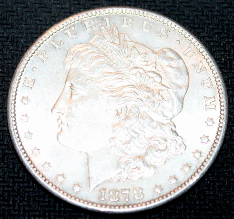1878-S Morgan Silver Dollar Coin Second Reverse EF-40 Or Better