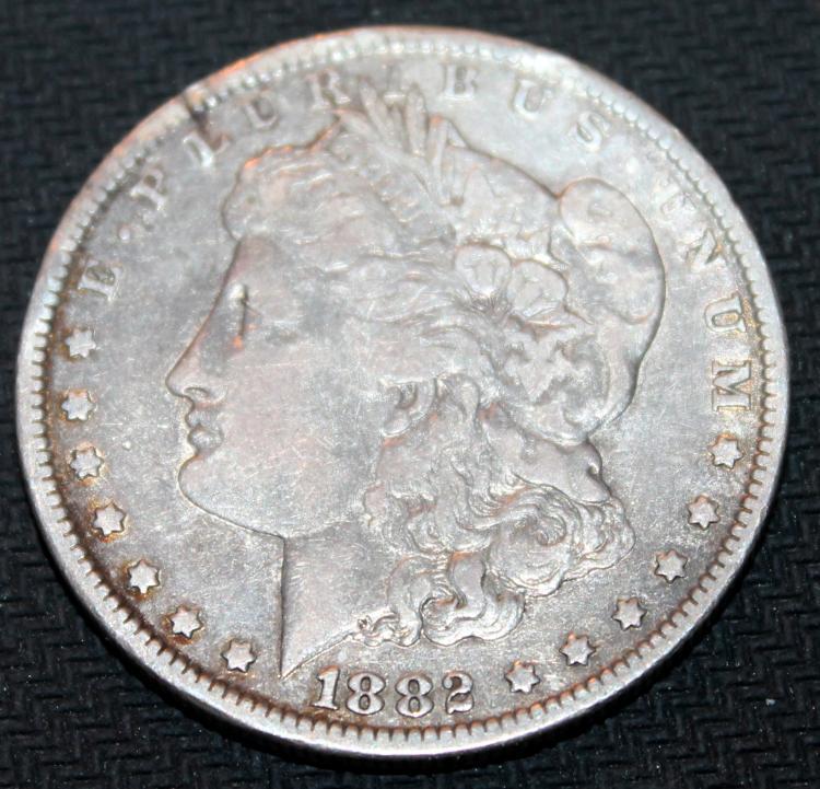 1882-O Morgan Silver Dollar Coin VF-20 Or Better