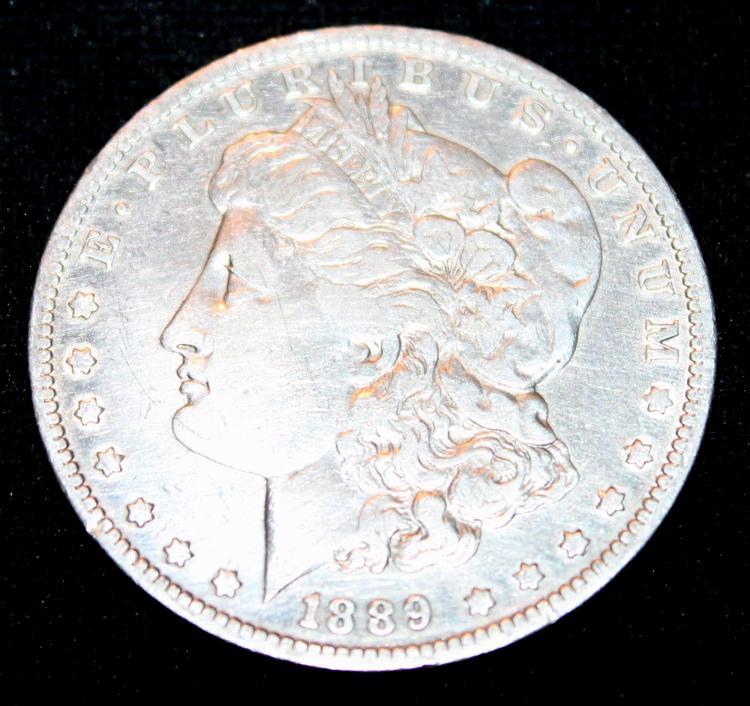 1889-O Morgan Silver Dollar Coin EF-40 Or Better