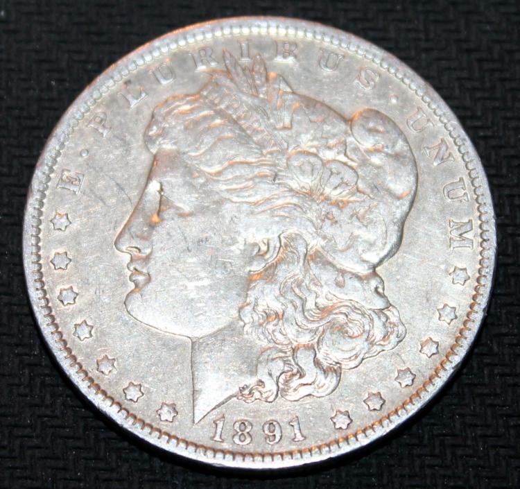 1891-O Morgan Silver Dollar Coin VF-20 Or Better