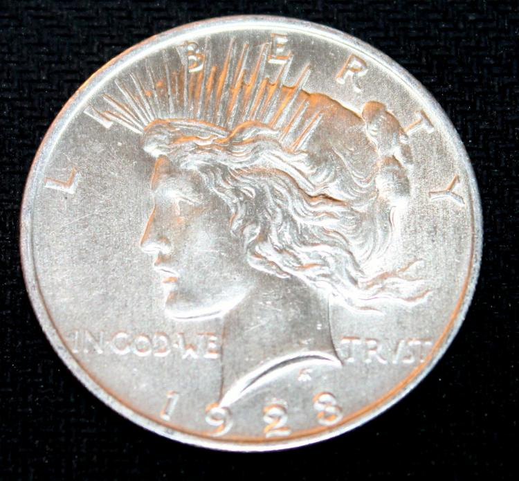 1923 Peace Silver Dollar Coin Ef-40 Or Better