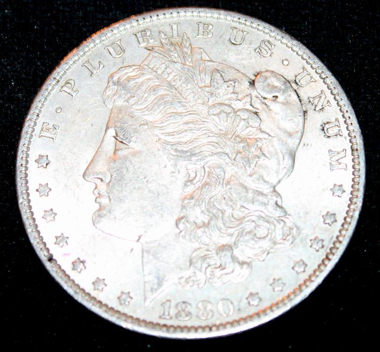 1880-O Morgan Silver Dollar Coin EF-40 Or Better