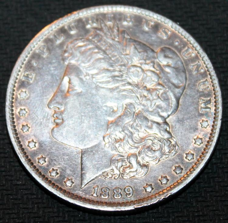 1889-O Morgan Silver Dollar Coin VF-20 Or Better