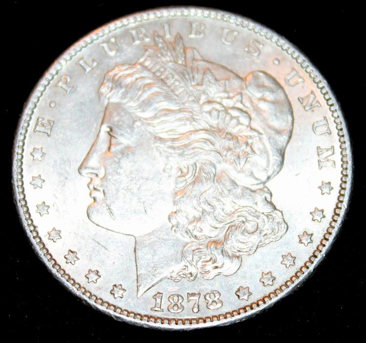 1878-S Morgan Silver Dollar Coin EF-40 Or Better