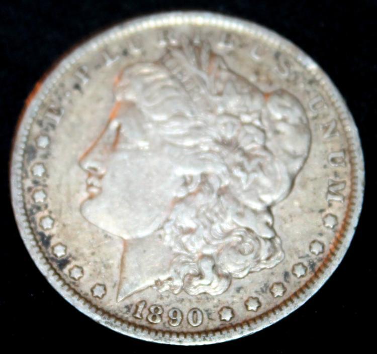 1890-O Morgan Silver Dollar Coin VF-20 Or Better