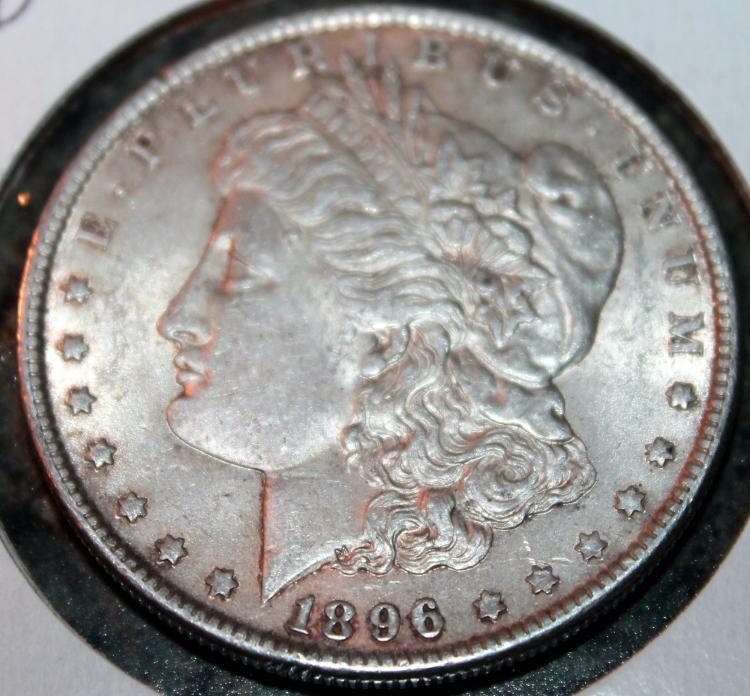 1896 Morgan Silver Dollar Coin EF-40 Or Better
