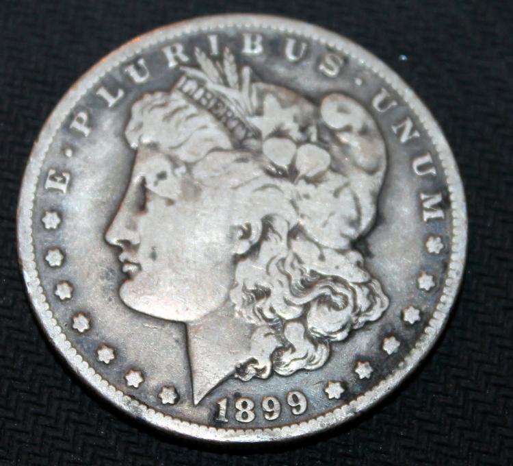 1899-S Morgan Silver Dollar Coin VF-20 Or Better