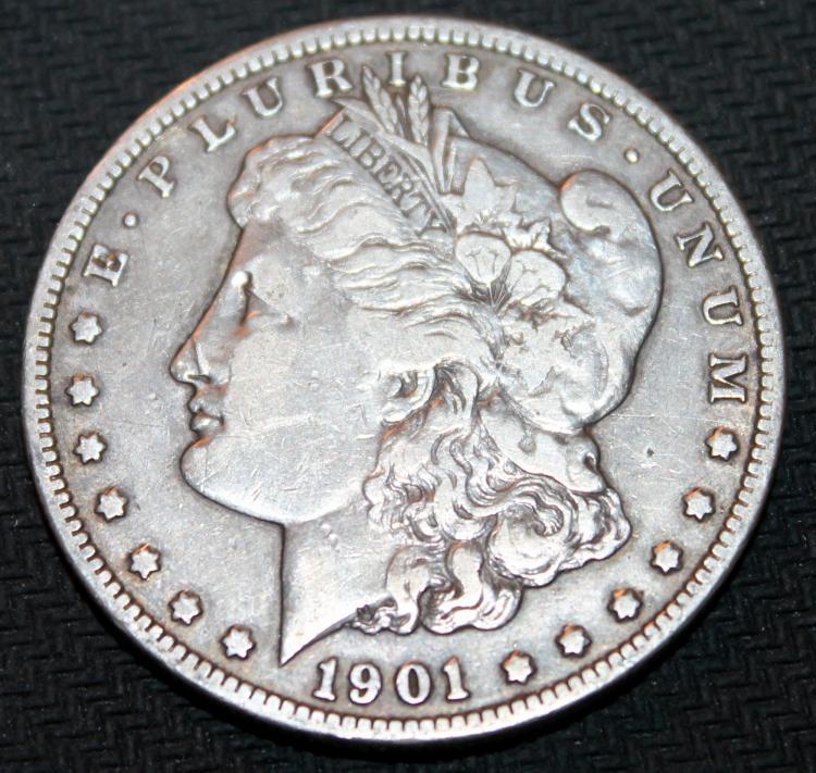 1901-O Morgan Silver Dollar Coin VF-20 Or Better