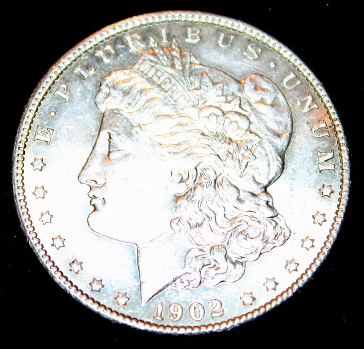 1902-O Morgan Silver Dollar Coin EF-40 Or Better