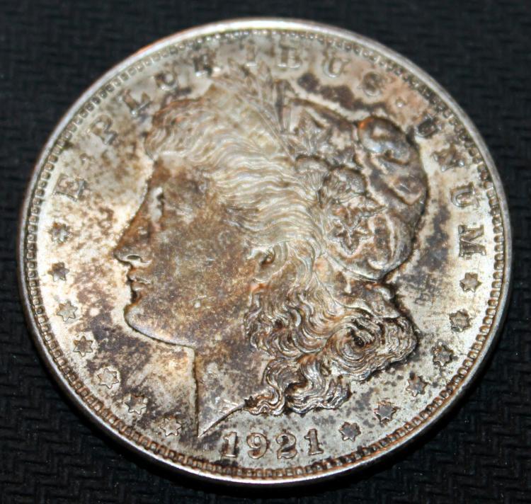 1921 Morgan Silver Dollar Coin VF-20