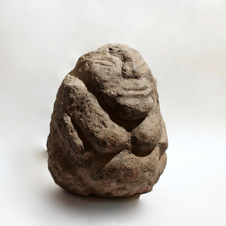 Stone Effigy Figure, Rapa Iti, Austral Islands