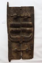 Large, Superb Old Naga NE India Headhunter Granary Door