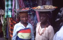 Young African Market Women