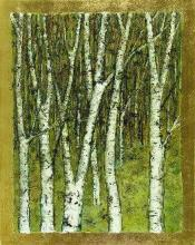 Birch with Gold Leaf