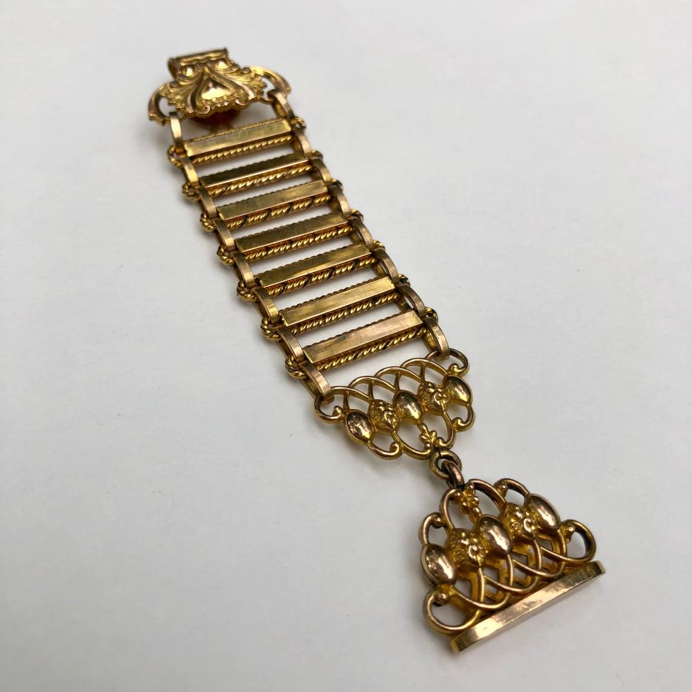 Vintage Gold filled watch fob brooch pin
