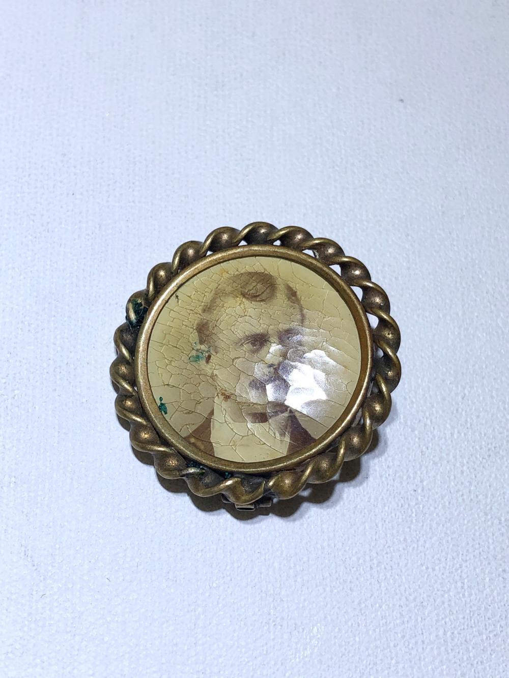 Antique Brass Brooch