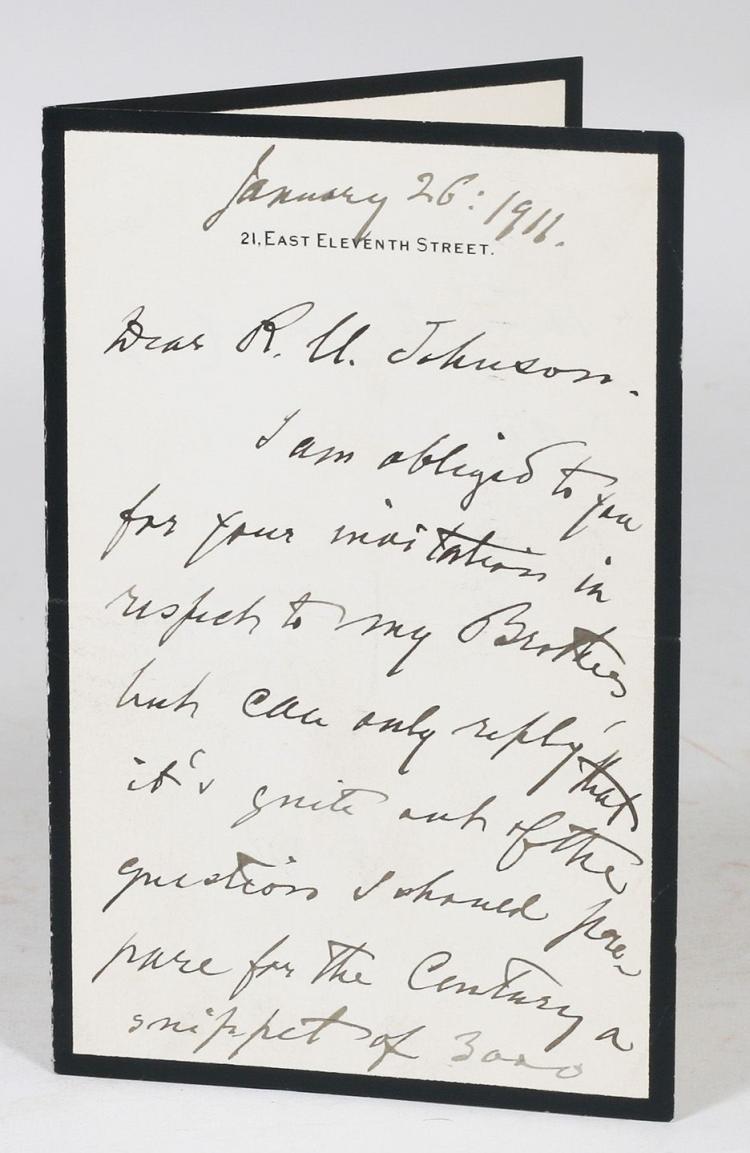 Autograph Letter Signed [ALS]