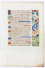 Illuminated Manuscript: Psalms 12 and 43 from a 15th-Century French Book of Hours