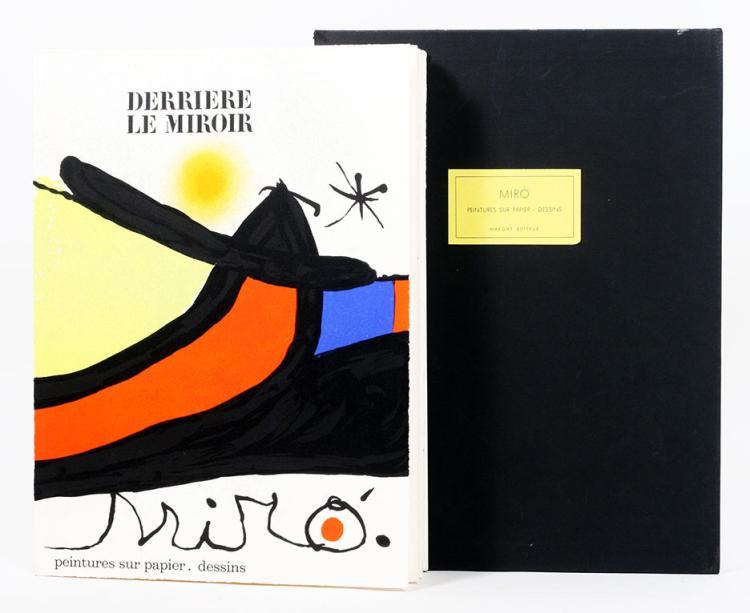 Derri?re le Miroir 193/194. Peintures Sur Papier, Dessins.
