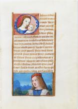 Illuminated Manuscript Leaf with Miniature of Mary