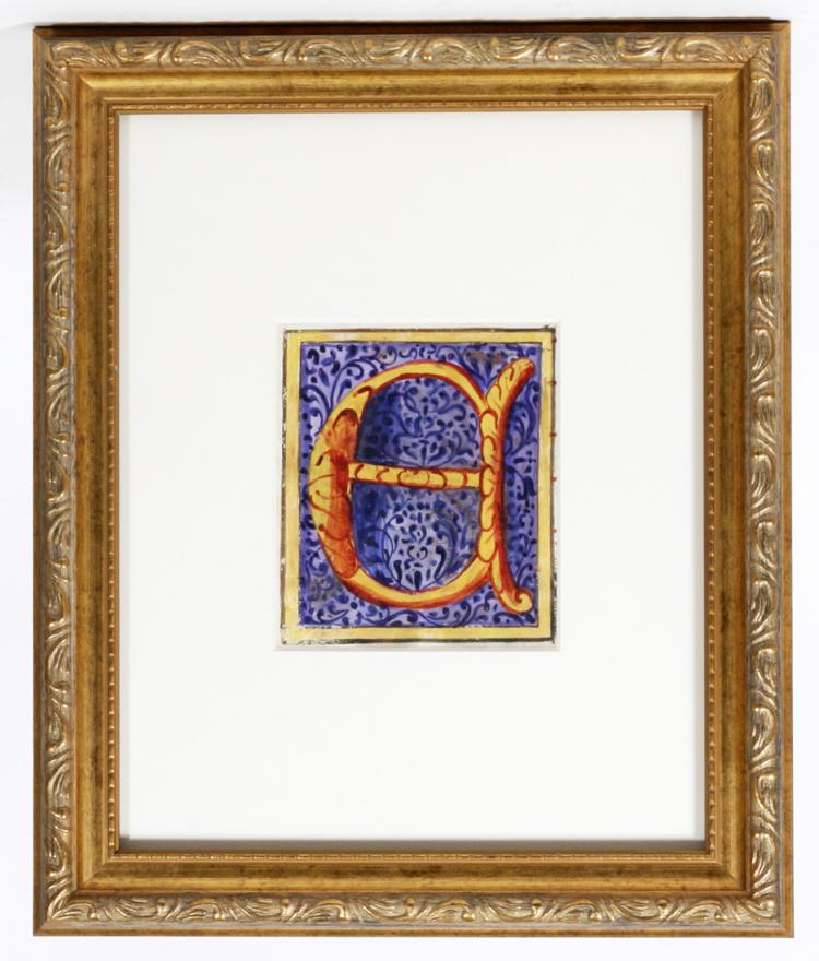 Illuminated Manuscript: Large Initial