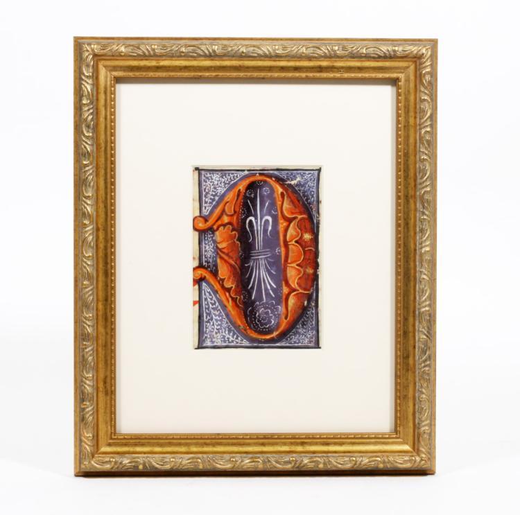 Illuminated Manuscript: Large Initial