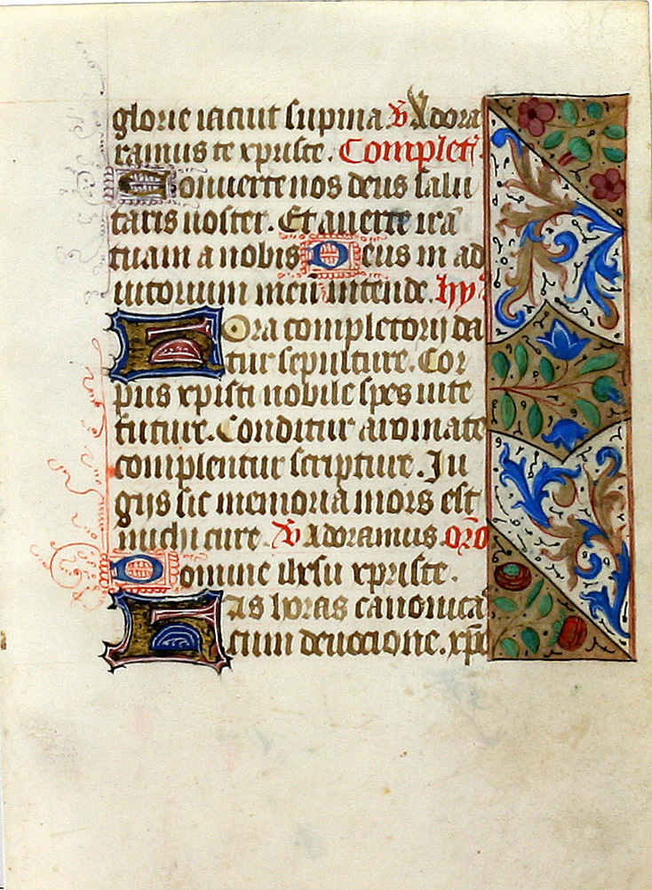 Illuminated Manuscript Leaf: Hours of the Cross