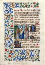 Illuminated Manuscript Leaf with Miniature: The Flight into Egypt