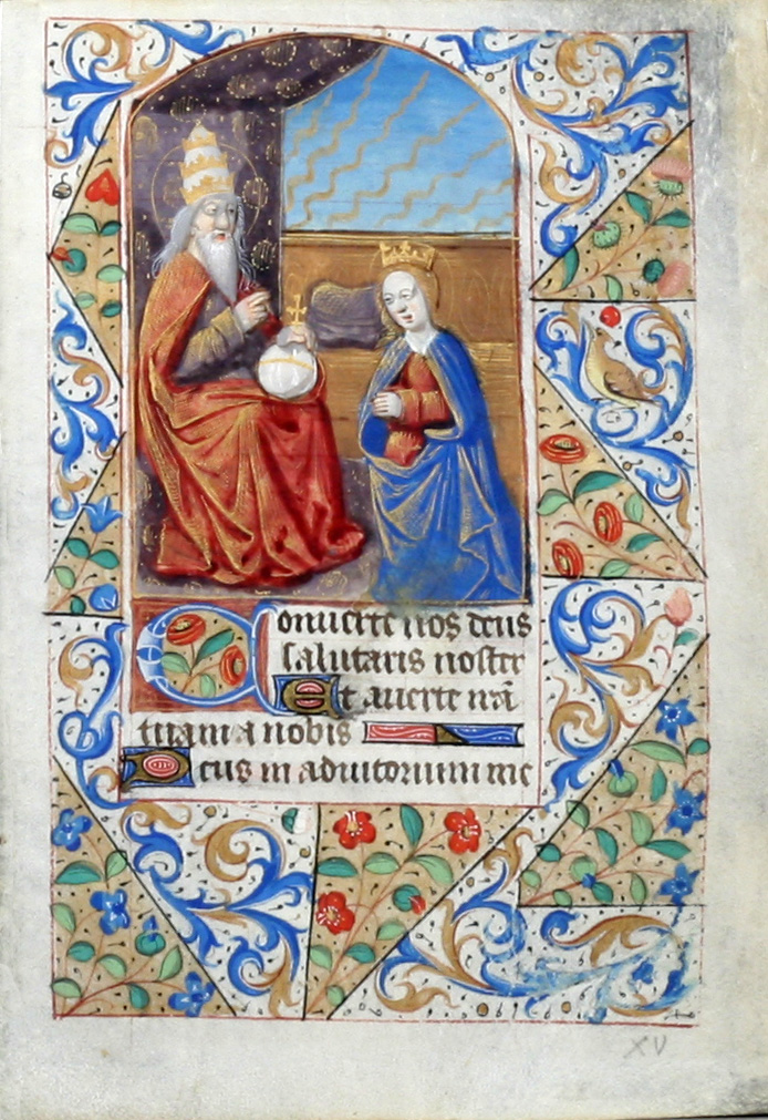 Illuminated Manuscript Leaf: The Coronation of the Virgin