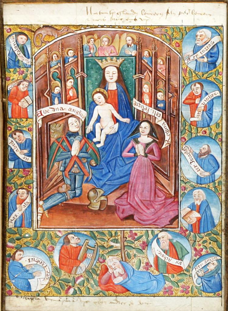 Illuminated Manuscript Leaf: The Adoration of Mary