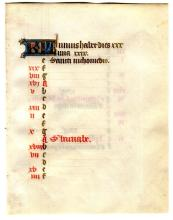 Illuminated Manuscript: June Calendar Leaf from a 15th Century Book of Hours