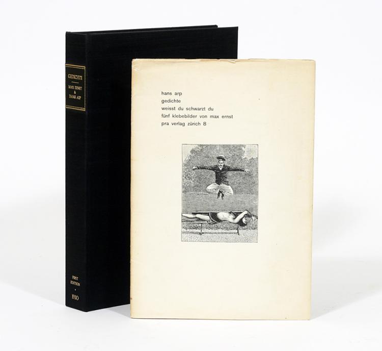 Gedichte. Weisst du Schwartz du Funf Klebebilder von Max Ernst