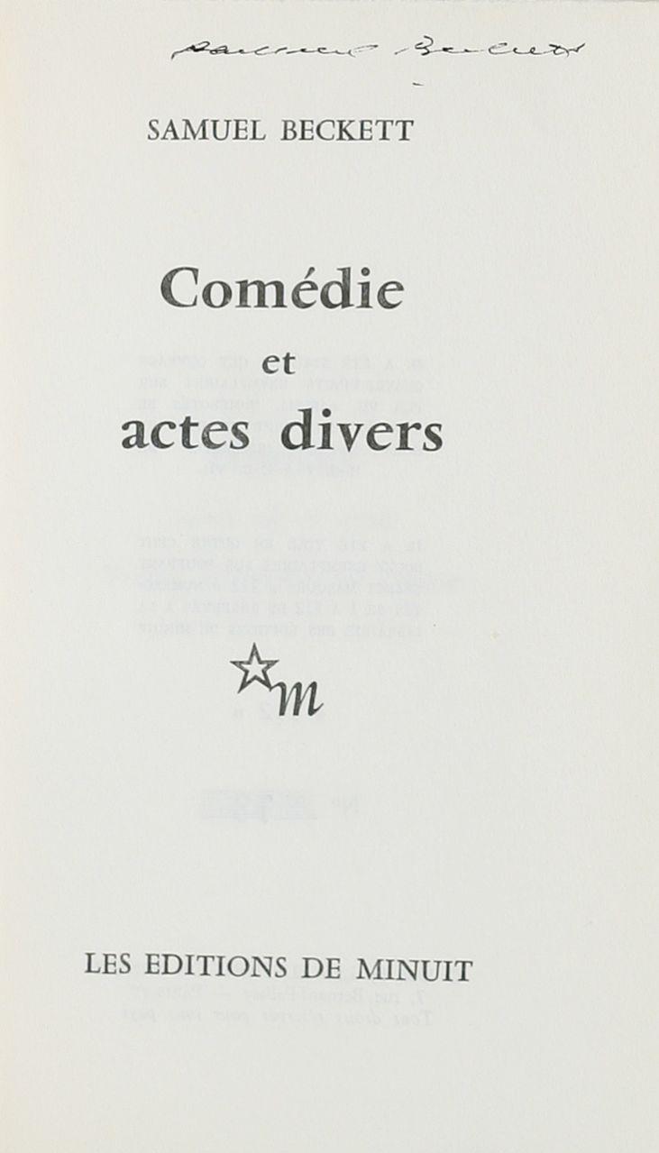 Com?die et actes Divers