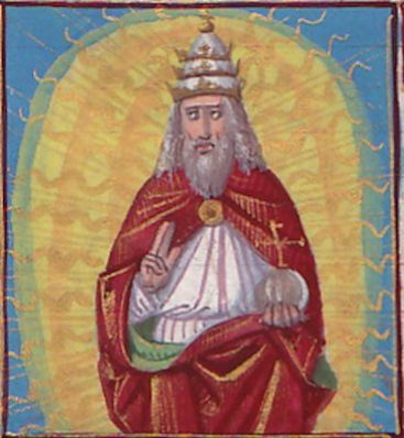 Illuminated Manuscript: Prayer to God, the Father