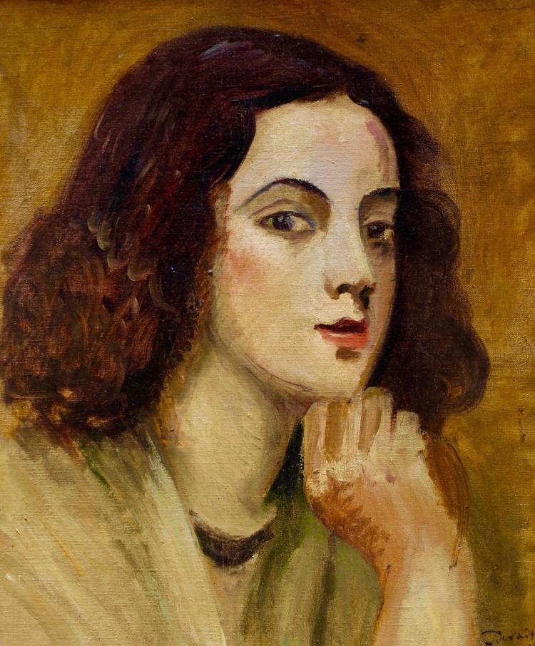 Andre Derain (1880  1954), Tete de Jeune Fille (Head of a