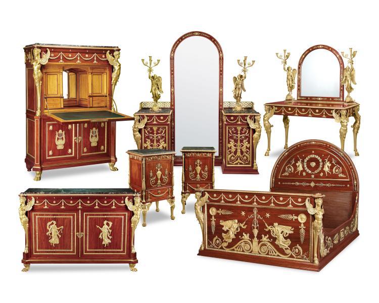 Egyptian king farouk empire bedroom suite for Bedroom furniture egypt