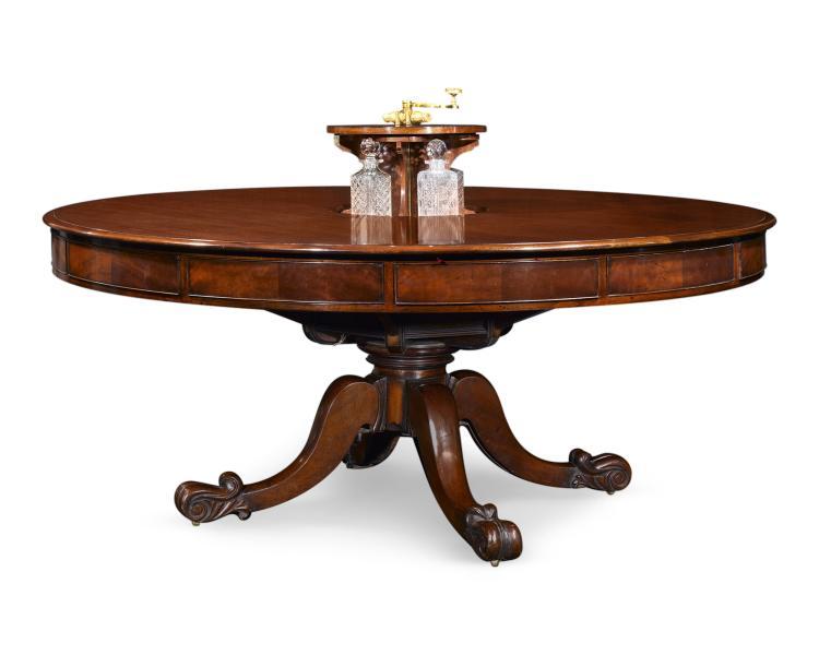 Irish Mahogany Dining And Games Table