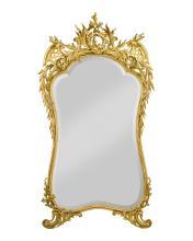Louis XV-Style Gold Leaf Mirror