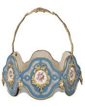 Napoleon III Porcelain Basket